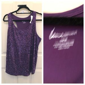 Lane Bryant Sequin Tank Top